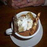 Coffee chocolate mousse dessert