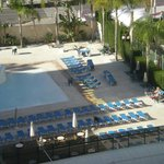 View of the pool from room 819