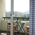 Le balcon de la chambre du Colombus Monte Carlo