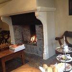 Open fire whilst having breakfast