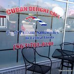 New front window, Cuban Delight Cafe