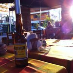 Pacifico and the setting sun