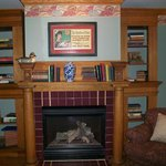 Gas fireplace wall