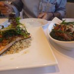 salmon and dry lamb curry