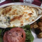 Chicken Crepes with Mornay Sauce