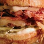 The Big bopper Burger with Ham and Bacon