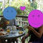 Balcony for a romantic breakfast!