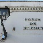 Detalle en la plaza de Santa Cruz