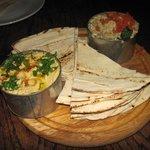 Hummus and Pitta Bread Starters - Yum!