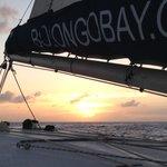 sunset aboard Heavenly Days