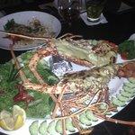 1.3kg Lobster au gratin.