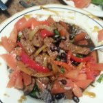 I got their black bean soup, and added the beef from their casado that they had on special. it w