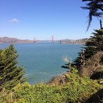 Golden Gate from trail.