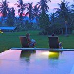 Sunset Drinks beside the pool