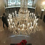 Chandelier in the beautiful lobby