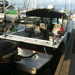 Our boats seat 4 anglers very comfortably