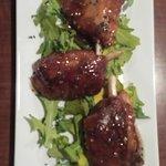 Hog Wings + Arugula in sweet Ginger sauce