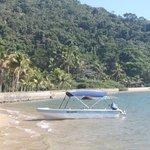 Uma das praias permanentes.