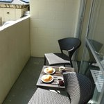 """""""Balcony"""" coffee and dishware included (croissant not included)"""