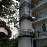 Exterior/ Spiral staircase