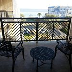 Large oversized balcony -room 306....it over looks the ocean & the pool area