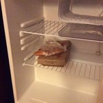 food still in refrigerator from previous guest