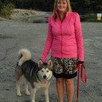 Fiona and Nushka, our Alaskan Malamute