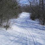 Pretty, but ungroomed xc ski trail