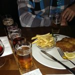 Fish and chips add a lot of beer