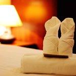 bathroom amenities ;fresh towel