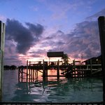 sunrise from the boat before diving sipadan at 5.15am