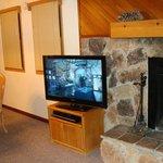 Inside cabin living room