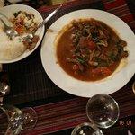Un émincés de Bœuf accompagné de riz...succulent....