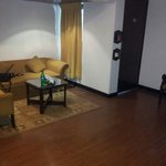 Suite-1st room with sofa,tv and room heater