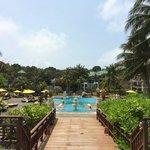 Udsigt over poolområde