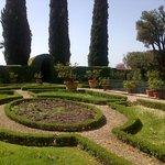 Italian garden and park at Certosa di Pontignano
