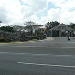 Fropn view of the main entrance of the resort