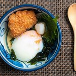 Onsen tamago & crispy fried beef bone marrow