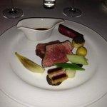 Main course of sirloin steak
