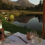 Relax at the foot of Stellenbosch Mountain with good food.