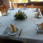 Et av bordene fra restaurant Venta El Charrco