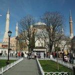 Vista desde la plaza Sultanahmet