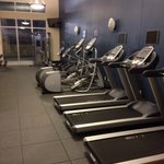 Gym was reasonably well equipped and spacious
