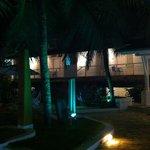 área externa a noite