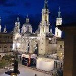 Vista de la Basílica del Pilar desde el ático, foto Aurelio Anaya