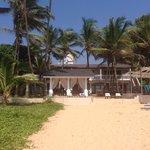 Hotel vom Strand aus gesehen;-)
