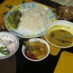 Lunch prepared by me - eating is popular at Kolkata