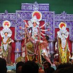 Durga Puja celebration near the apartment