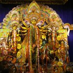 Durga Puja near the apartment