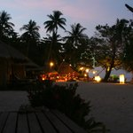The resort evening time
